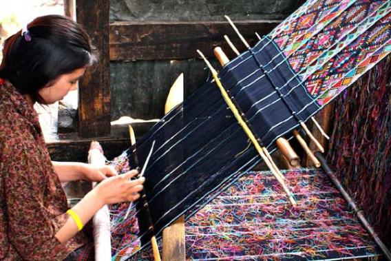 Brocade wooland fabric