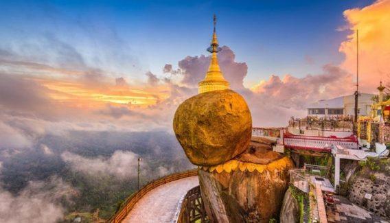 Myanmar Buddhist Monuments must visit - Golden Rock Pagoda yangon kyaiktiyo