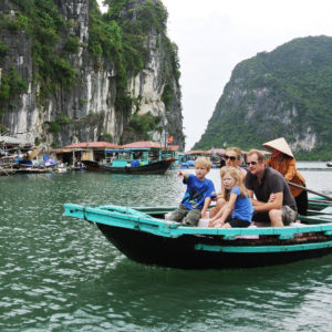 FAMILY TRAVEL IN VIETNAM- Why and where - floating-village-halong-bay-travel-with-kids